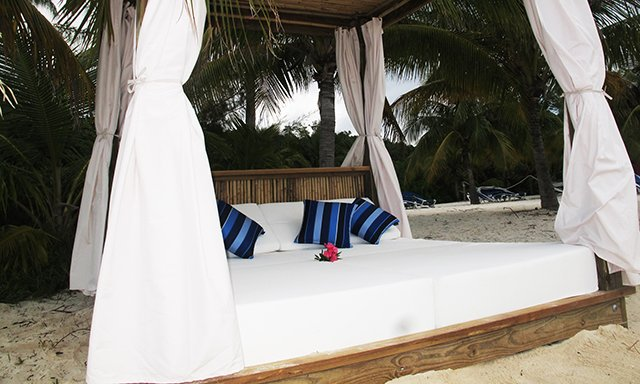 Spotted Beach Bed rental on Royal Caribbean s CocoCay