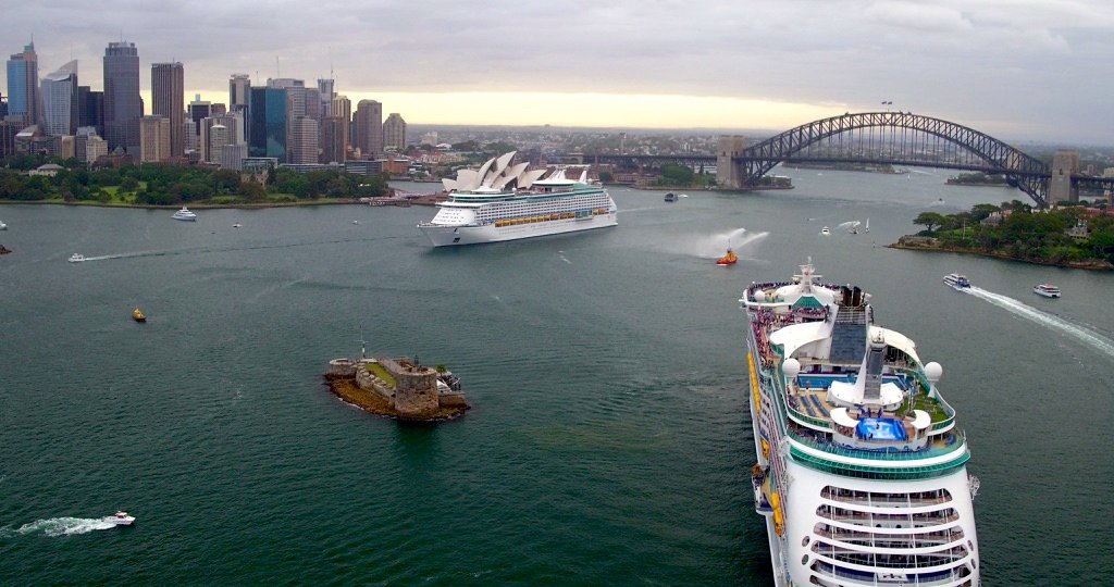 Two Royal Caribbean Cruise Ships Meet In Australia For First Time Royal Caribbean Blog