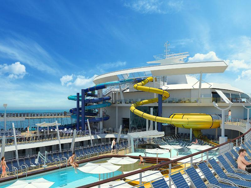 Everything We Know About Harmony Of The Seas Water Slides Royal - Cruise ship slide