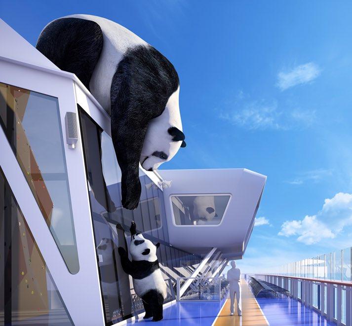 Panda and Cub art installation by Jo Smith