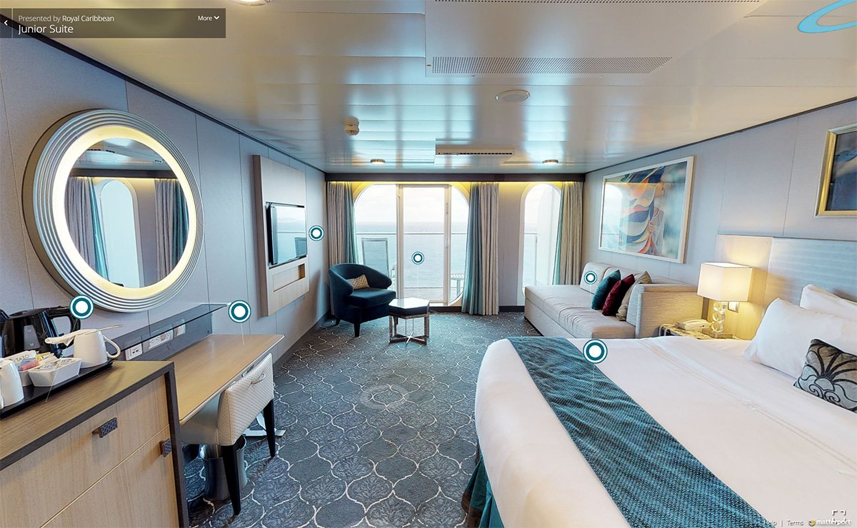 Royal Caribbean adds virtual stateroom tours for suites