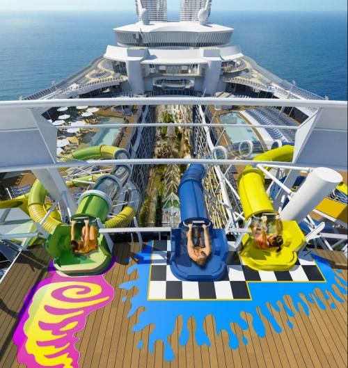 Royal Caribbean Will Add Water Slides To Harmony Of The Seas Making Her Among First Ship Have Added A