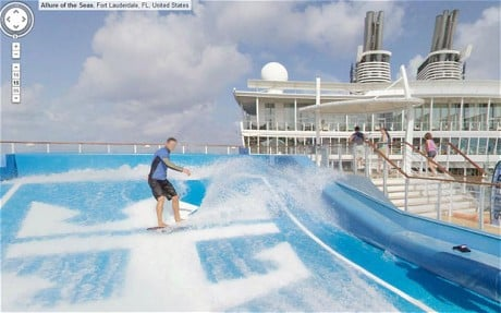 Google Street View Adds Royal Caribbeans Allure Of The Seas - Cruise ship google earth