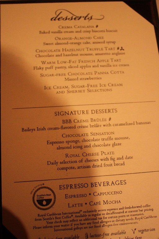 Image Result For Enchantment Of The Seas Room Service Menu