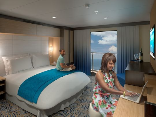 Previewing royal caribbean 39 s virtual balconies royal for Balcony meaning