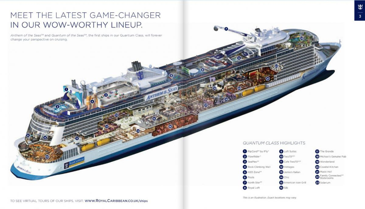 Anthem of the seas inside layout revealed royal caribbean blog anthem of the seas inside layout revealed pooptronica Images