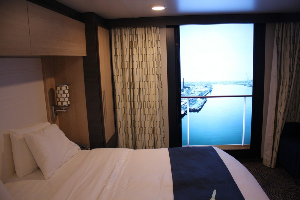 Photo tour of category l large interior stateroom with for Balcony stateroom