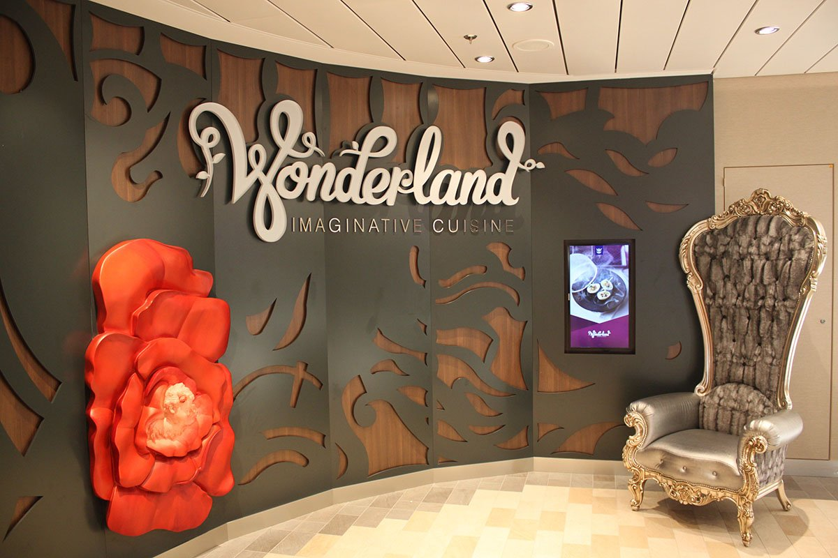 Restaurant Review Wonderland Royal Caribbean Blog