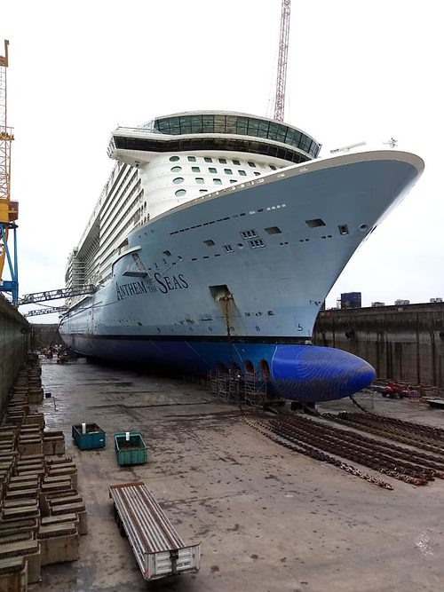 Royal Caribbean S Anthem Of The Seas Is Undergoing Scheduled
