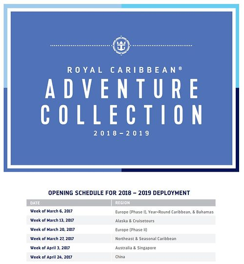 Deployment Schedule Royal Caribbean Blog