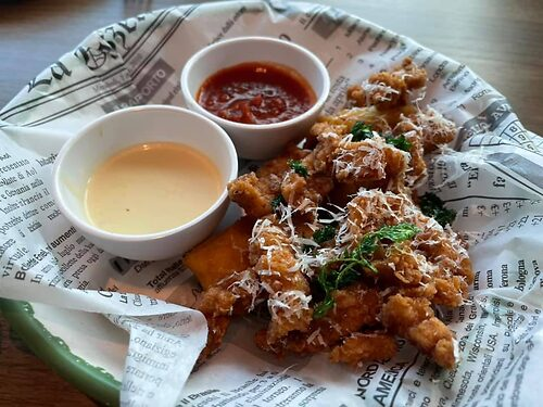 Calamari & Polenta appetizer