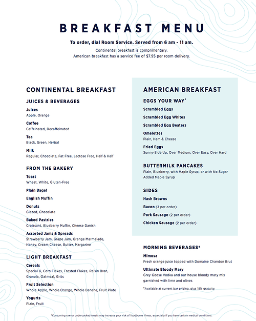 Royal Caribbean Shares New Fleet Wide Room Service Menu Royal Caribbean Blog
