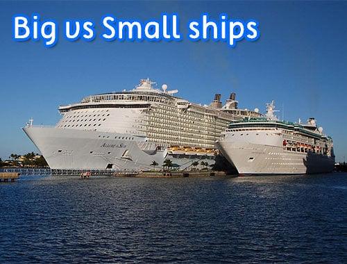 Big Ships Verus Small Ships Royal Caribbean Blog Podcast - Small cruise ships to caribbean