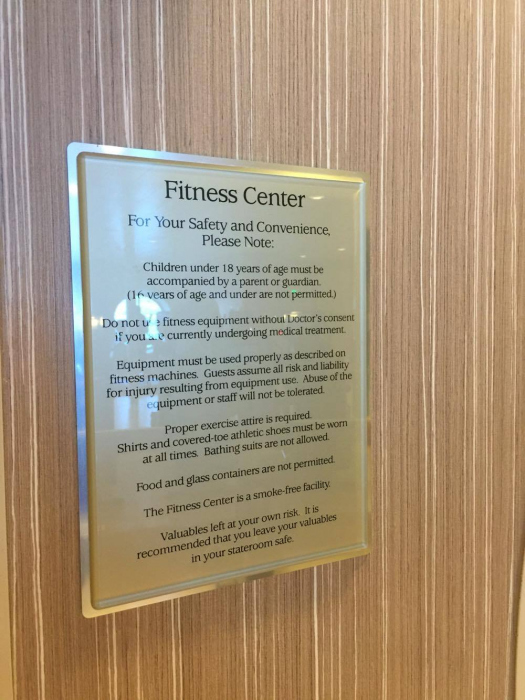 Harmony of the Seas Fitness Center | Royal Caribbean Blog