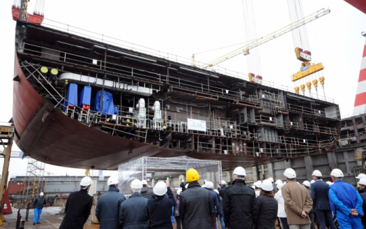 Keel Laying For Royal Caribbean S Fourth Oasis Class