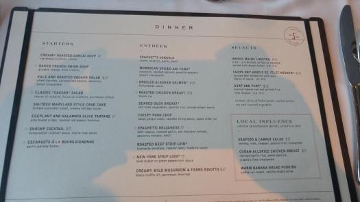 Oasis of the Seas MDR menu | Royal Caribbean Blog