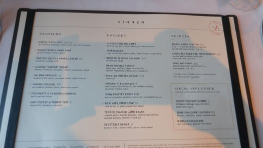 Spotted New Main Dining Room Menu On Royal Caribbean S