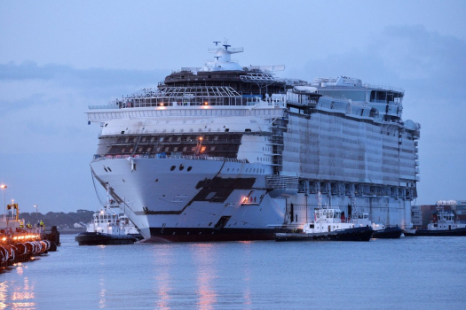 Royal Caribbean S Symphony Of The Seas Floated Out For